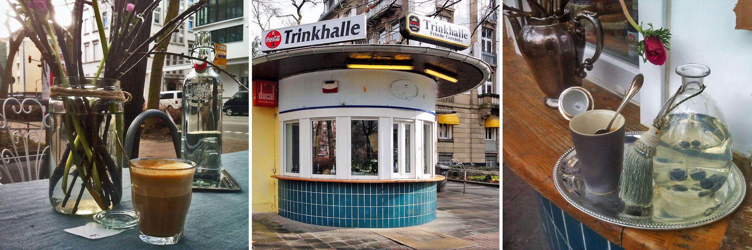 """Café? Kiosk? Wasserhäuschen? Egal, schön ist's geworden: Das """"FEIN"""" in der Peterstraße."""