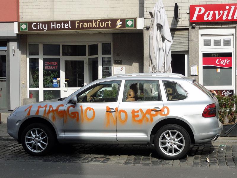 FRANKFURT BLOCKUPY 2015 - 1 MAGGIO, NO EXPO