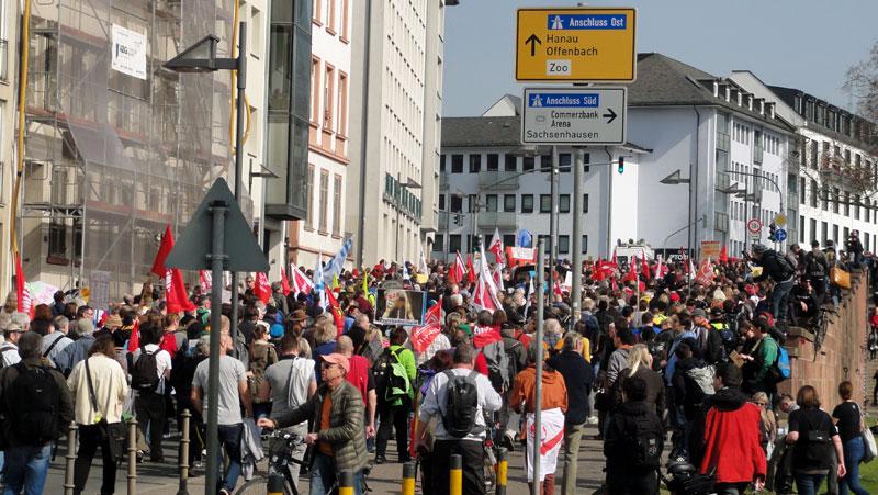 FRANKFURT BLOCKUPY 2015 - DEMONSTRATION 1