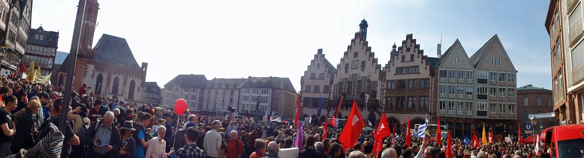 FRANKFURT BLOCKUPY 2015 - KUNDGEBUNG AM RÖMER