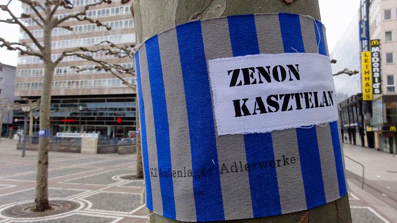 """Mitten unter uns - Fotos von der Kunstaktion zum Adlerwerke-""""KZ Katzbach"""""""
