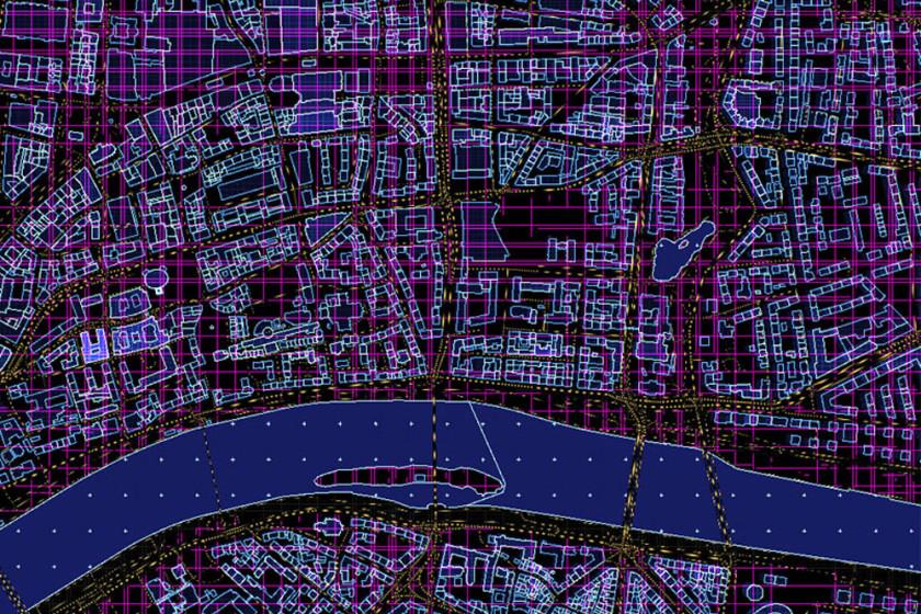 Vector Map für Frankfurt am Main
