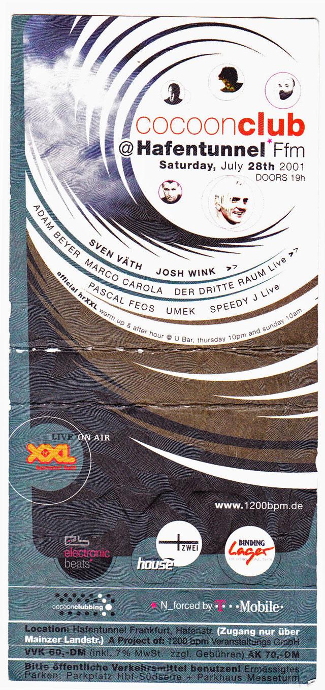 10 Party-Flyer aus Frankfurt für das Jahr 2001