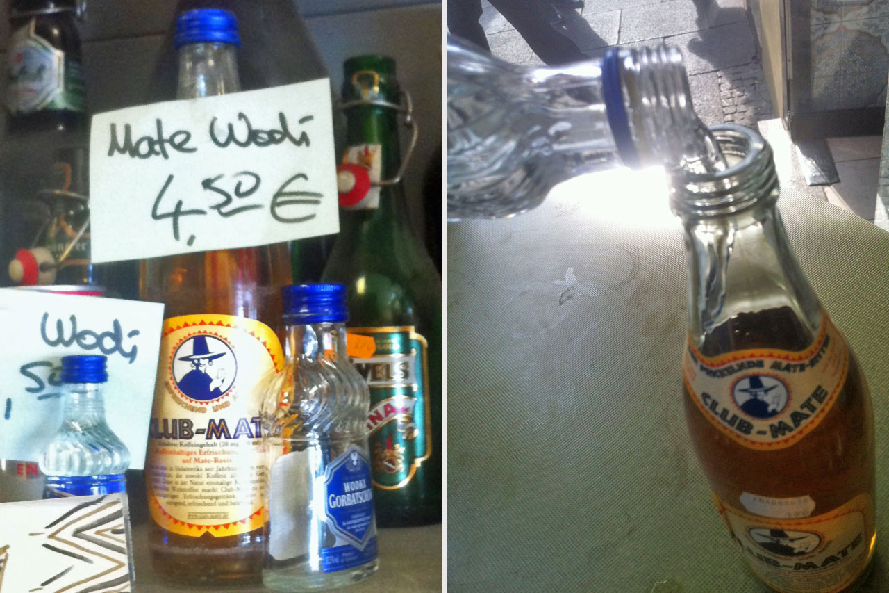 "Club Mate mit Wodka - ""Mate Wodi"" im Yok-Yok"