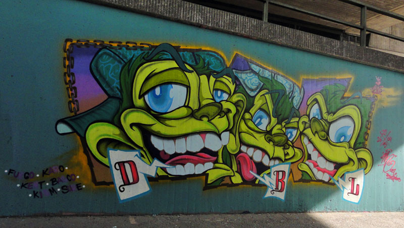 GRAFFITI IN FRANKFURT – HALL OF FAME RATSWEGKREISEL – APRIL 2015