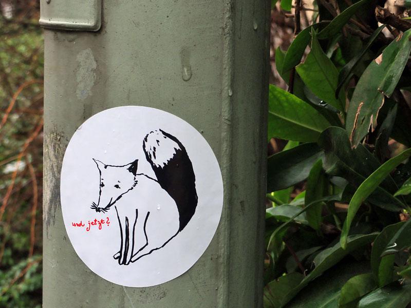 Streetart mit dem Fuchs
