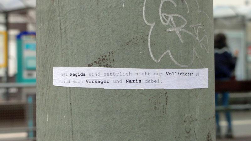 Frankfurt-Dornbusch: Pegida - Vollidioten - Versager - Nazis