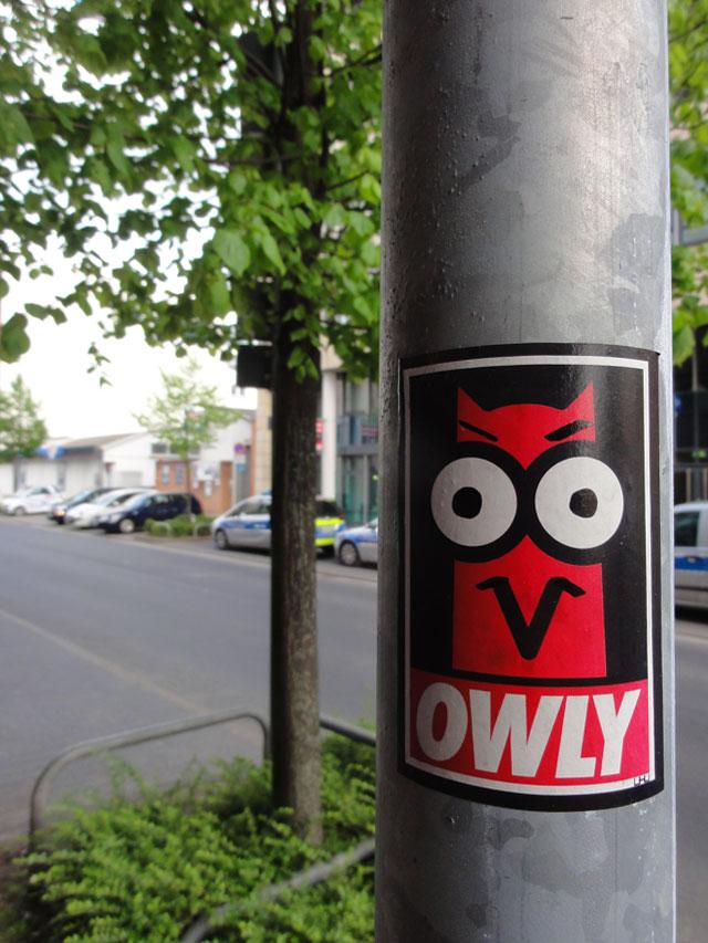 Streetart in Frankfurt: OWLY