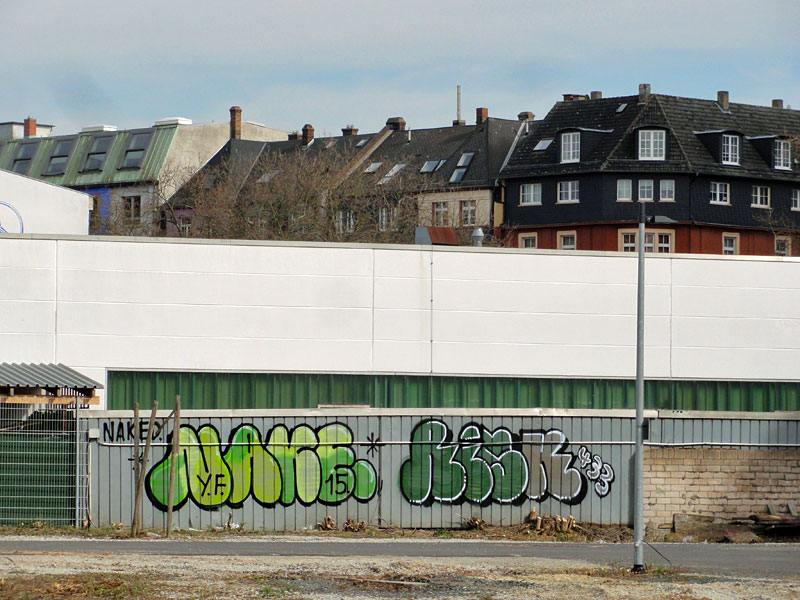 NAKE, RISK - Street Art & Graffiti in Frankfurt am Main - 04/2015
