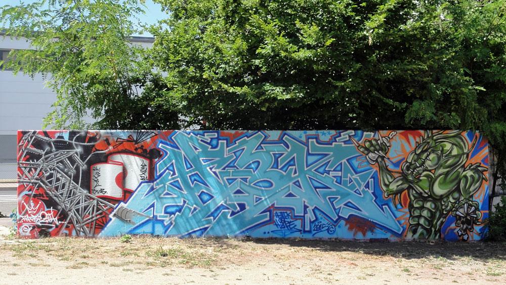 Graffiti beim Jugendhaus am Bügel