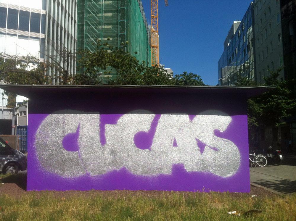 GRAFFITI VON CUCAS, UNFERTIG.