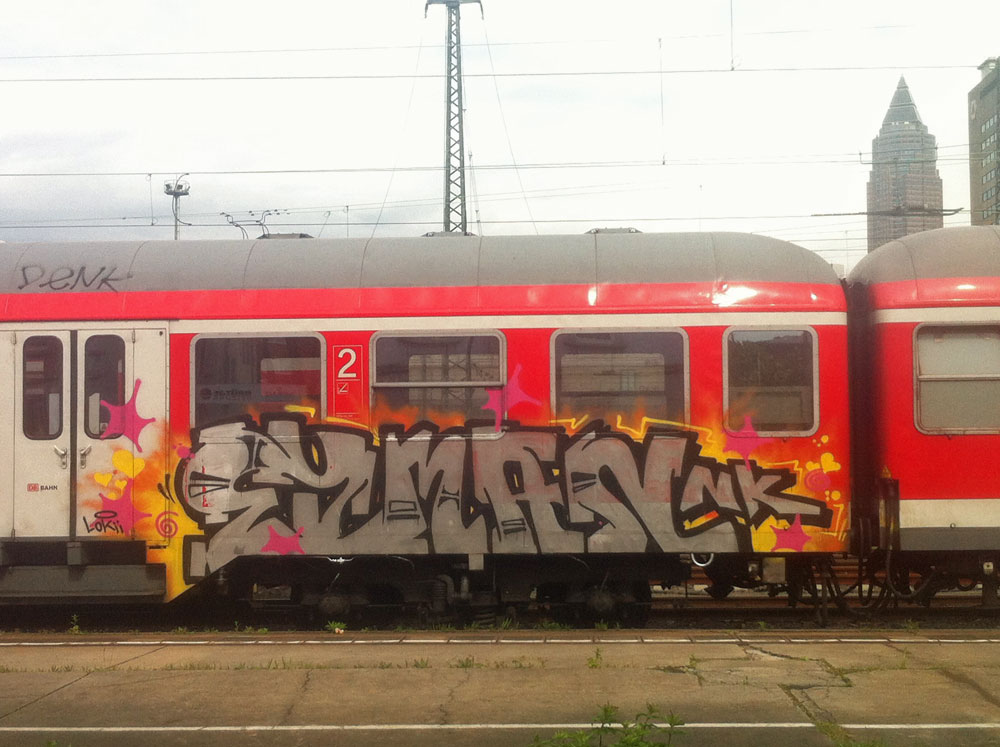 Train-Graffiti in Frankfurt - EYMAN