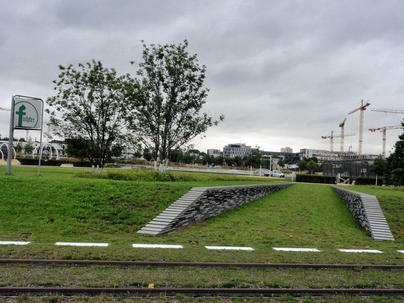 Hafenpark in Frankfurt, südlicher Abschnitt