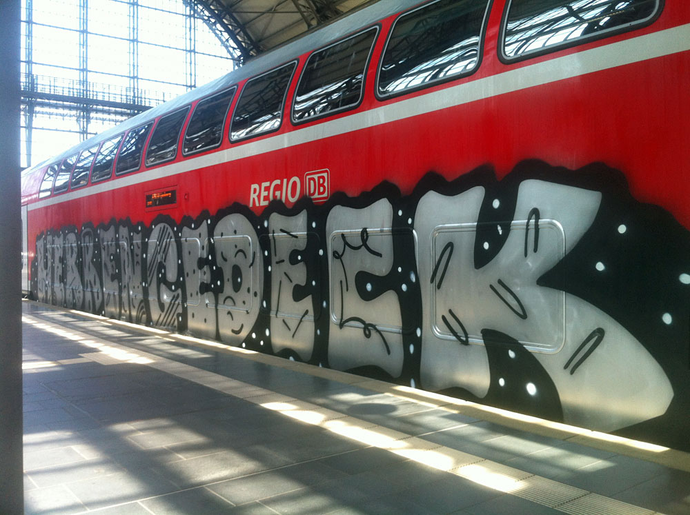 Train-Graffiti in Frankfurt - HERRENGEDECK