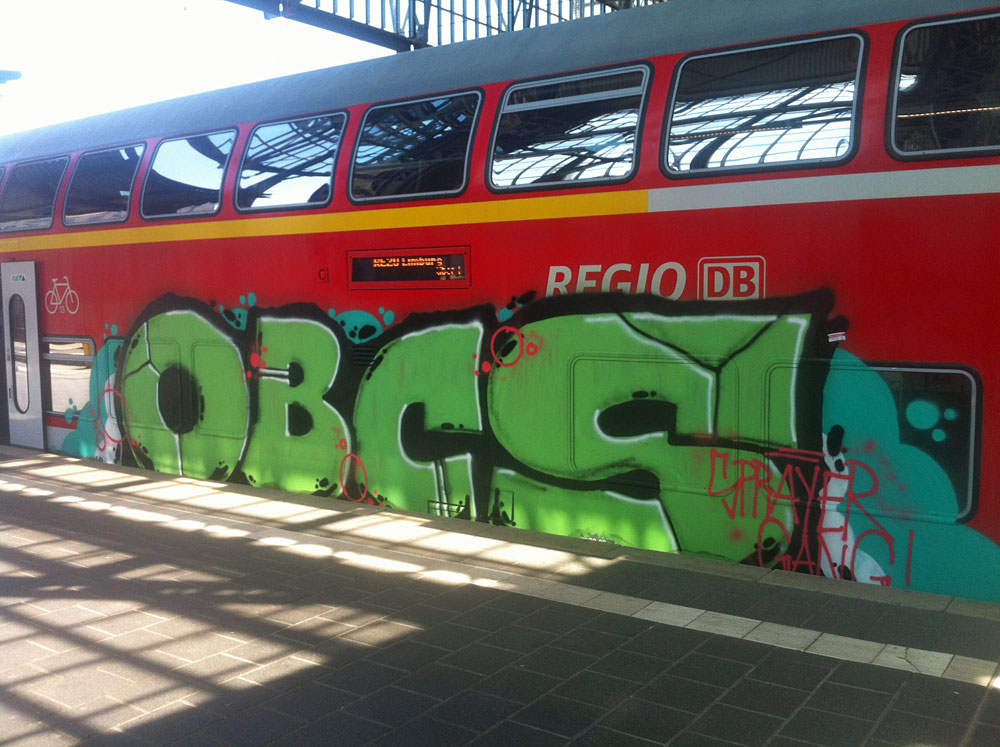 Train-Graffiti in Frankfurt - OBCS