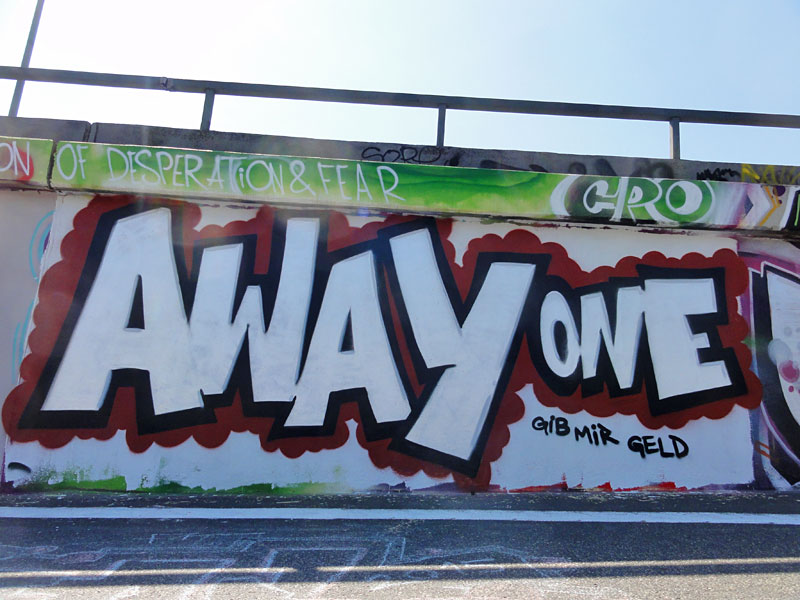 away-one-graffiti