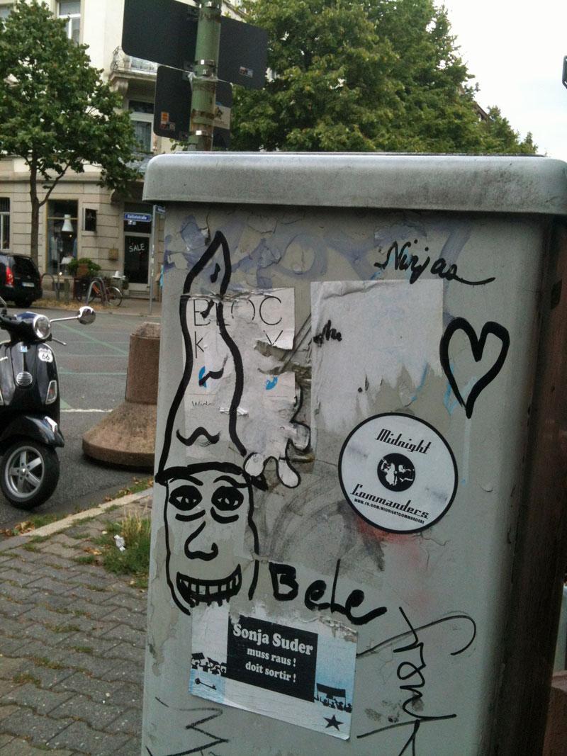 Streetart in Frankfurt: Bele