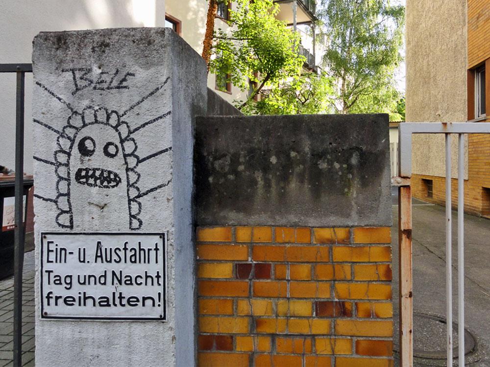 Streetart von Bele im Frankfurter Nordend, 2015.