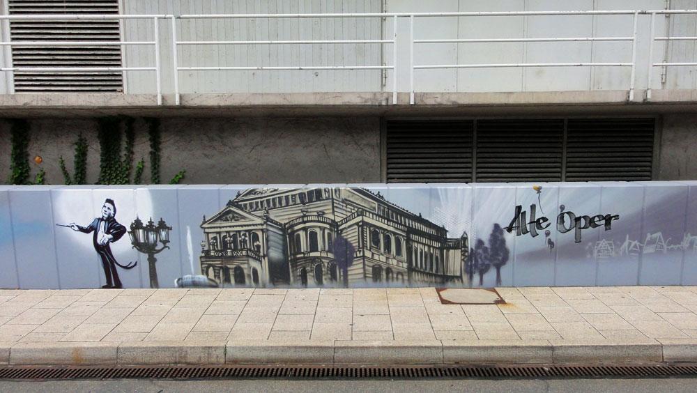 Graffiti vom Bomber am Airport Frankfurt: Alte Oper