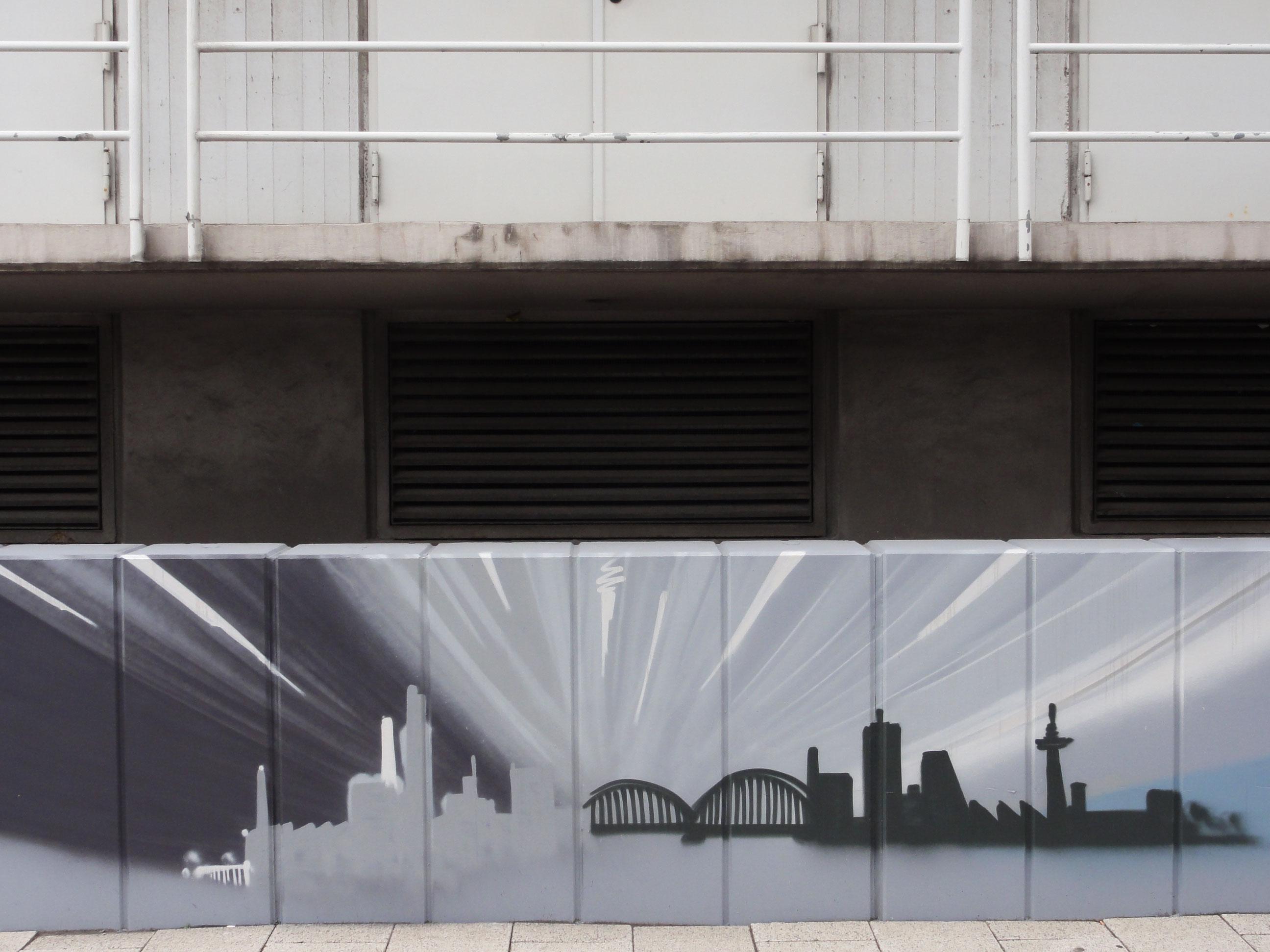 Graffiti vom Bomber am Airport Frankfurt: Skyline