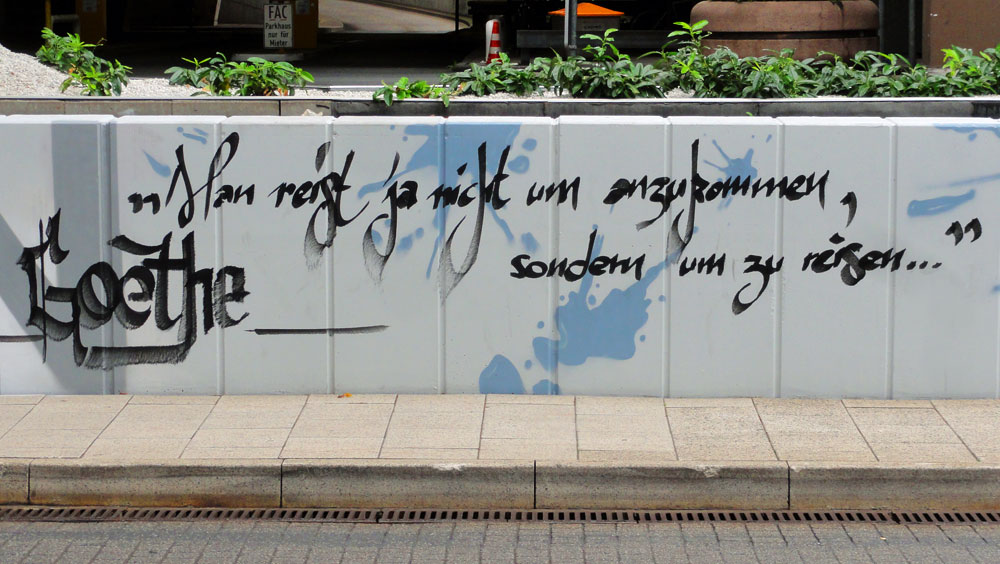 Graffiti vom Bomber am Airport Frankfurt: Goethe