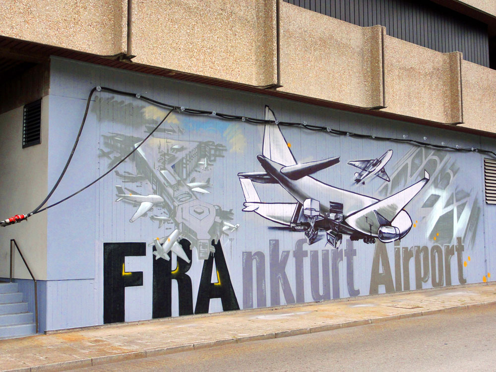 Graffiti vom Bomber am Airport Frankfurt
