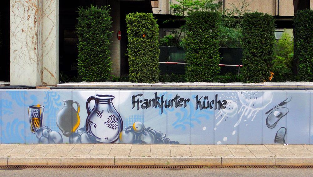 Graffiti vom Bomber am Airport Frankfurt: Frankfurter Küche