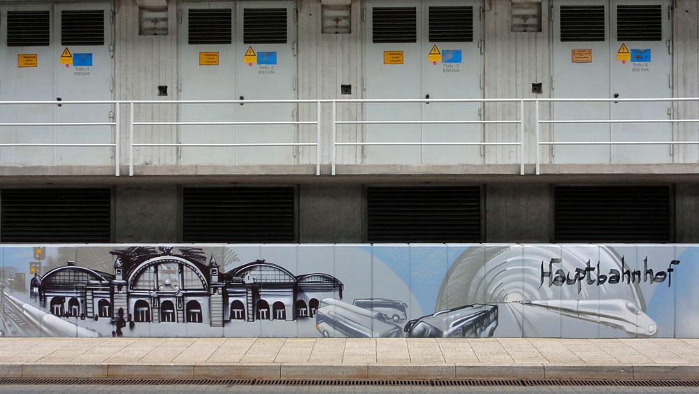 Graffiti vom Bomber am Airport Frankfurt: Hauptbahnhof
