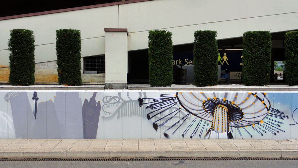 Graffiti vom Bomber am Airport Frankfurt: Dippemess