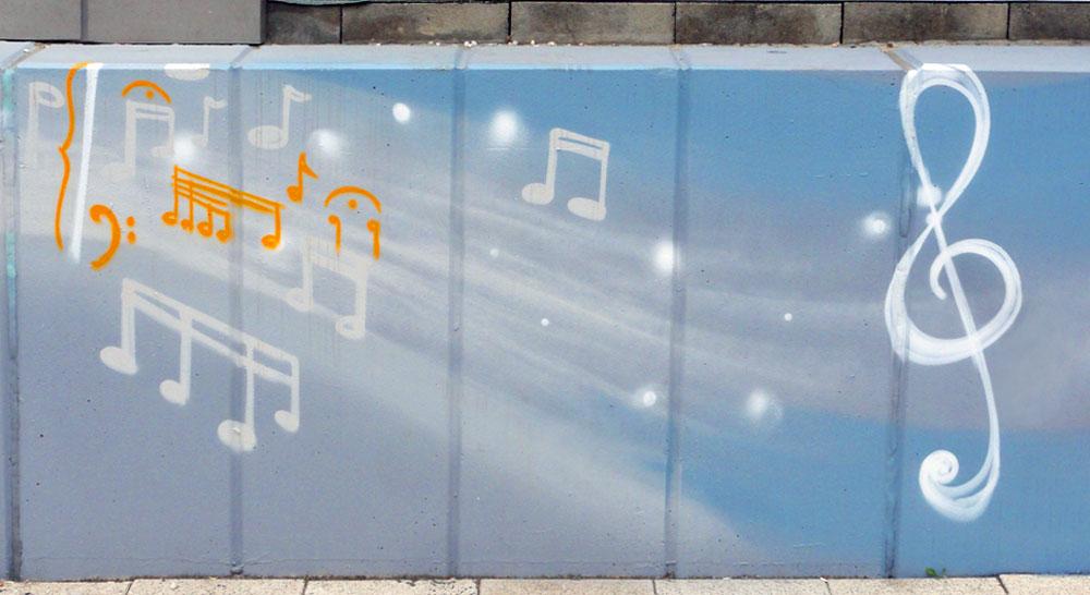Graffiti vom Bomber am Airport Frankfurt: Musik