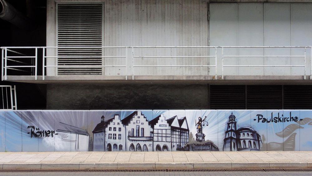 Graffiti vom Bomber am Airport Frankfurt: Paulskirche
