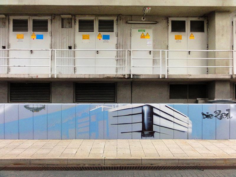 Graffiti vom Bomber am Airport Frankfurt: Die Zeil