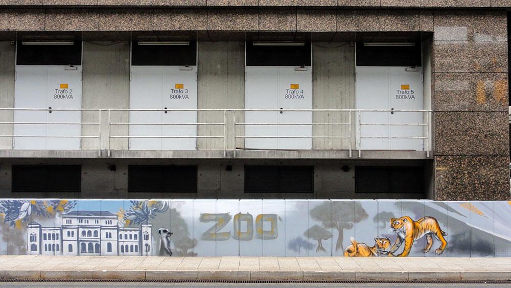 Graffiti vom Bomber am Airport Frankfurt: Zoo