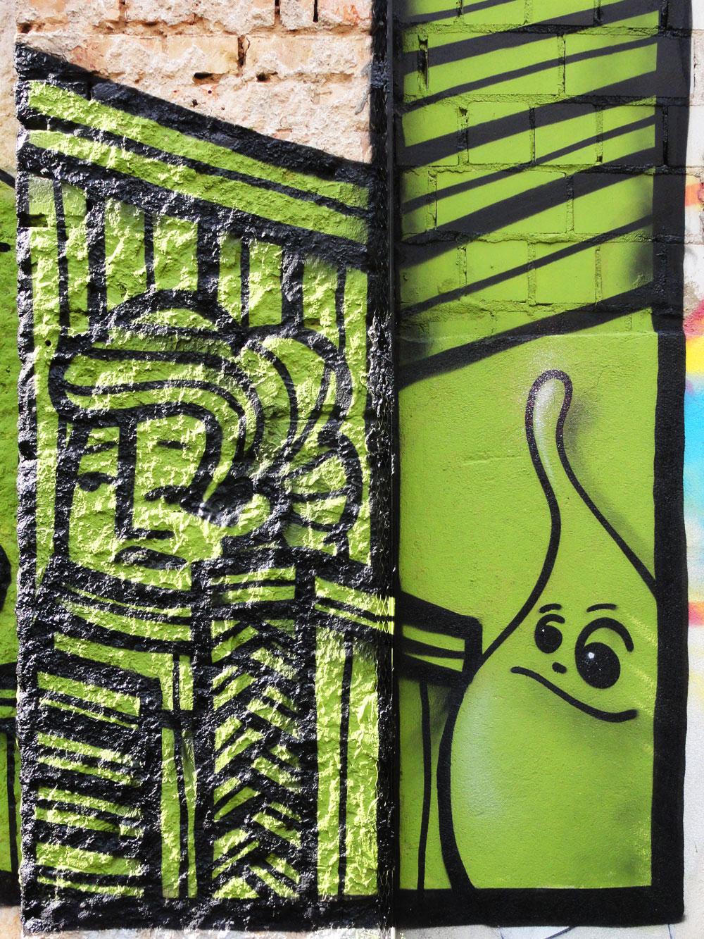 Streetart in Frankfurt- Bockenheim von P.Y.C. und SPOT