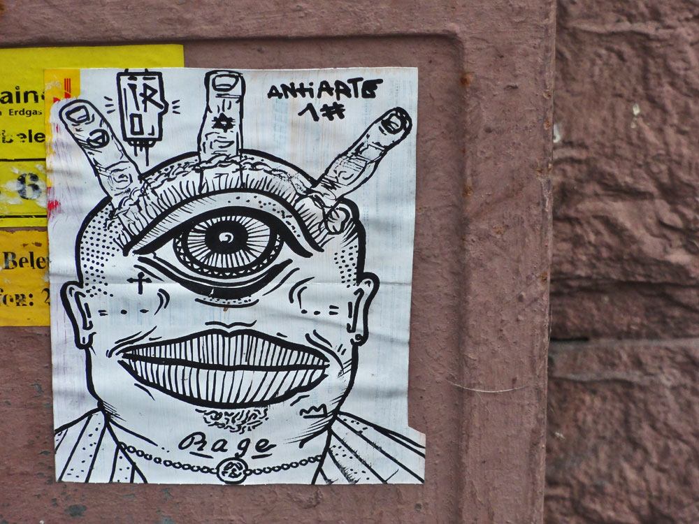 STREETART IN FRANKFURT VON IRO - ANTI ARTE