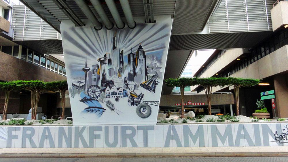 Graffiti vom Bomber am Airport Frankfurt: Frankfurt am Main