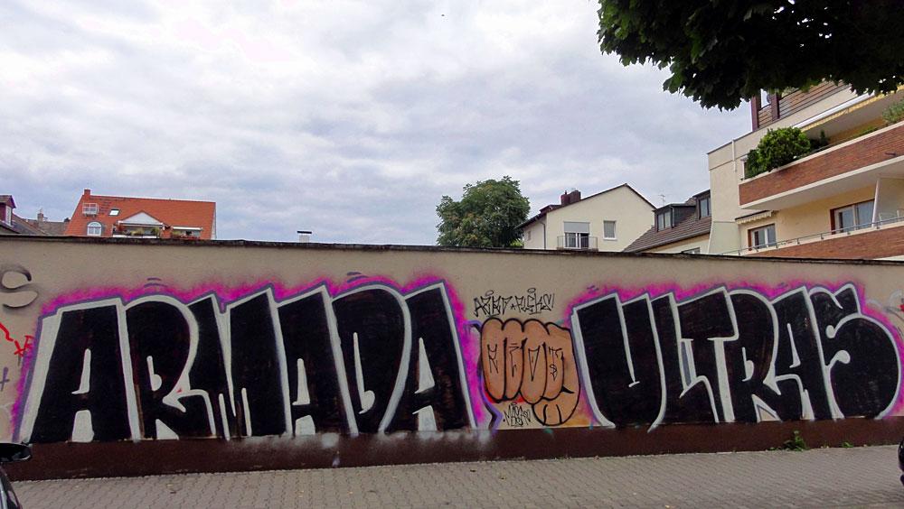 Graffiti in Frankfurt, Armada Ultras in Bornheim