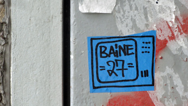 Streetart in Frankfurt: Baine 27