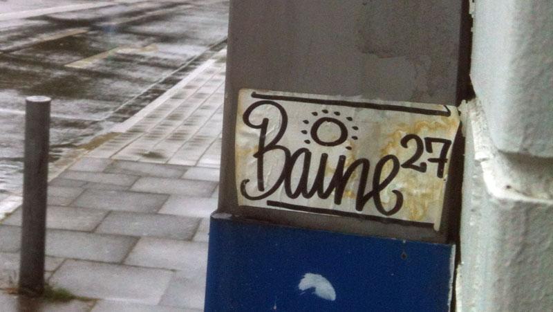 baine 27 streetart aufkleber frankfurt