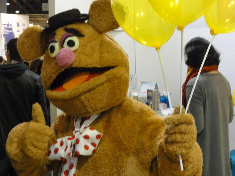 Fozzi Bär auf der Frankfurter Buchmesse