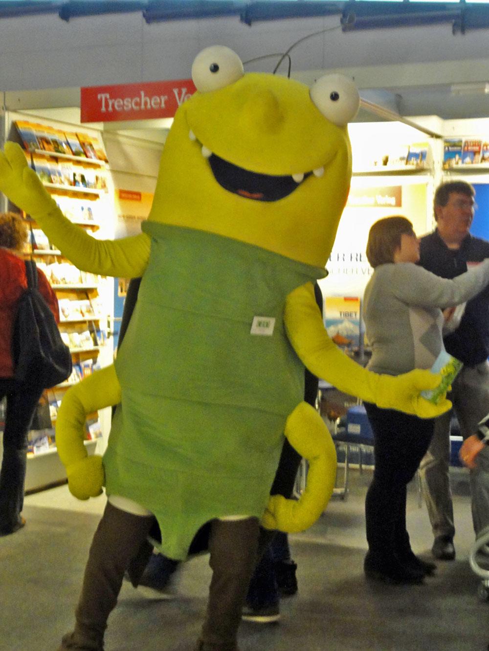 Georg-Maskottchen auf der Frankfurter Buchmesse 2015