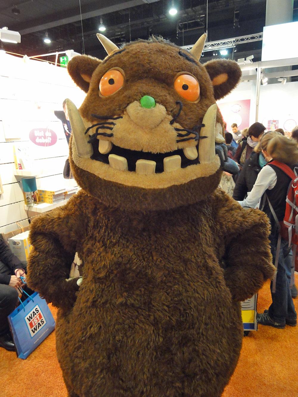 Grüffelo-Maskottchen auf der Frankfurter Buchmesse 2015