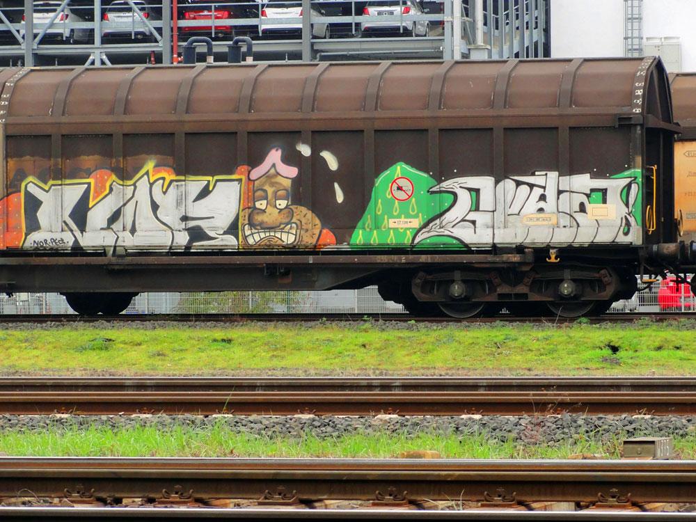 Freight Train Graffiti in Frankfurt