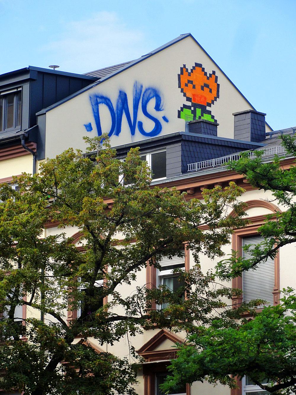 Graffiti in Frankfurt, Rooftop von DNS und SLC in Bockenheim