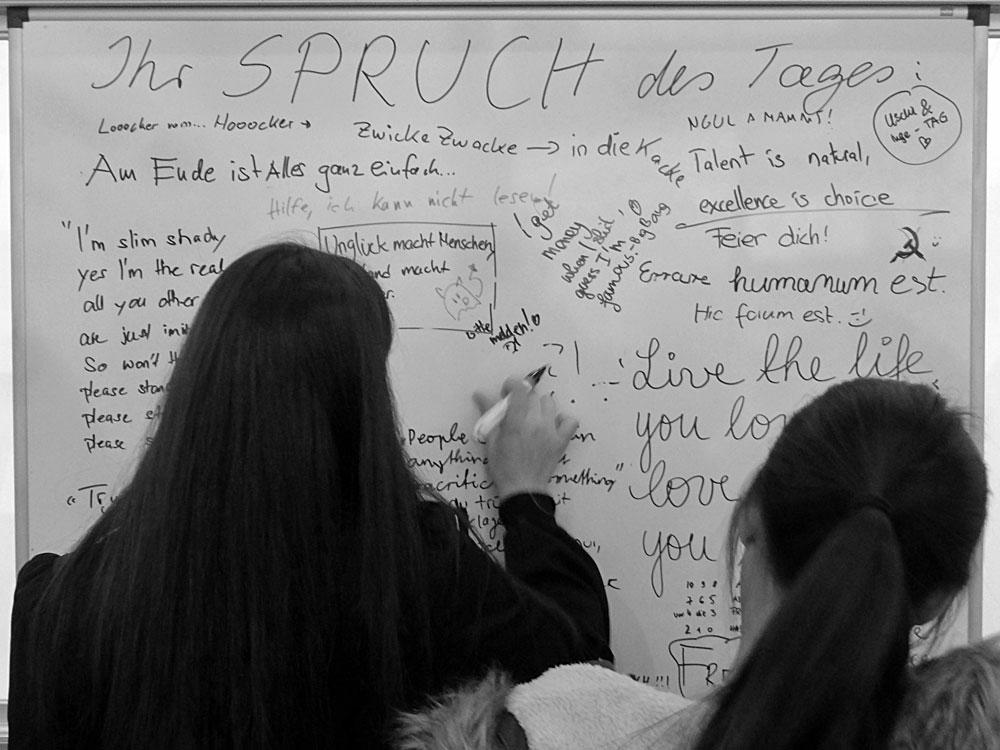Ihr Spruch des Tages - Partizipatives Kunstprojekt auf der Frankfurter Buchmesse 2015