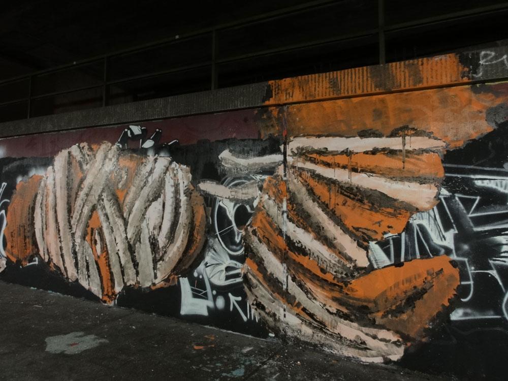 Graffiti in Frankfurt - Unterführung am Ratswegkreisel / Hanauer Landstraße