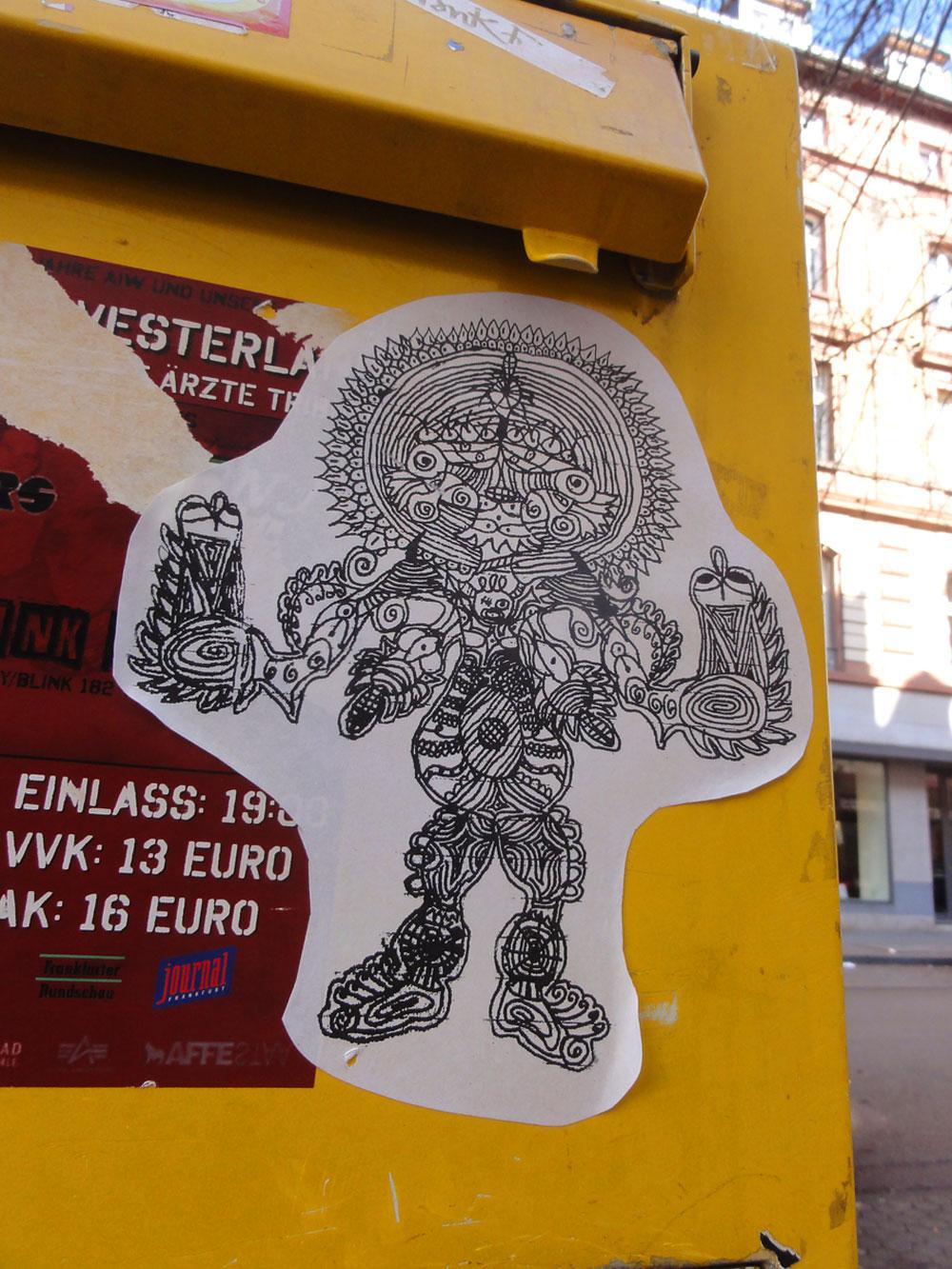 "Briefkasten-Streetart in Frankfurt - ""LE"""