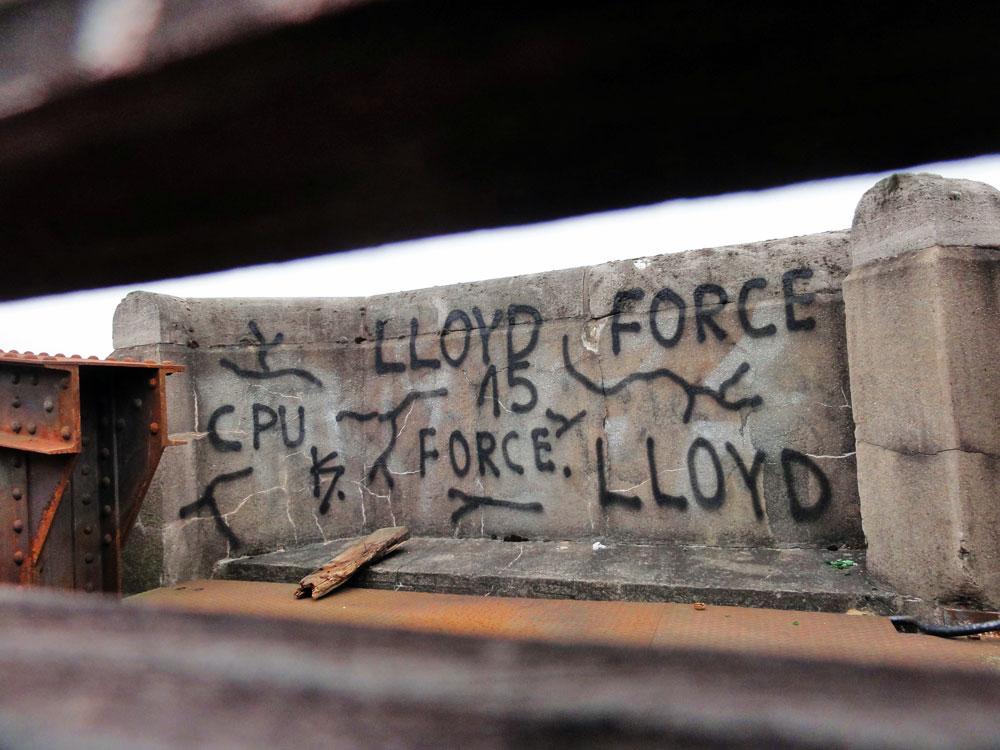 Graffiti in Frankfurt von CPUK, Force und Lloyd