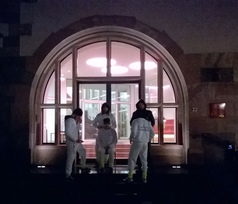"""Heroin Performance"" der Frankfurter Hauptschule am Römer in Frankfurt"