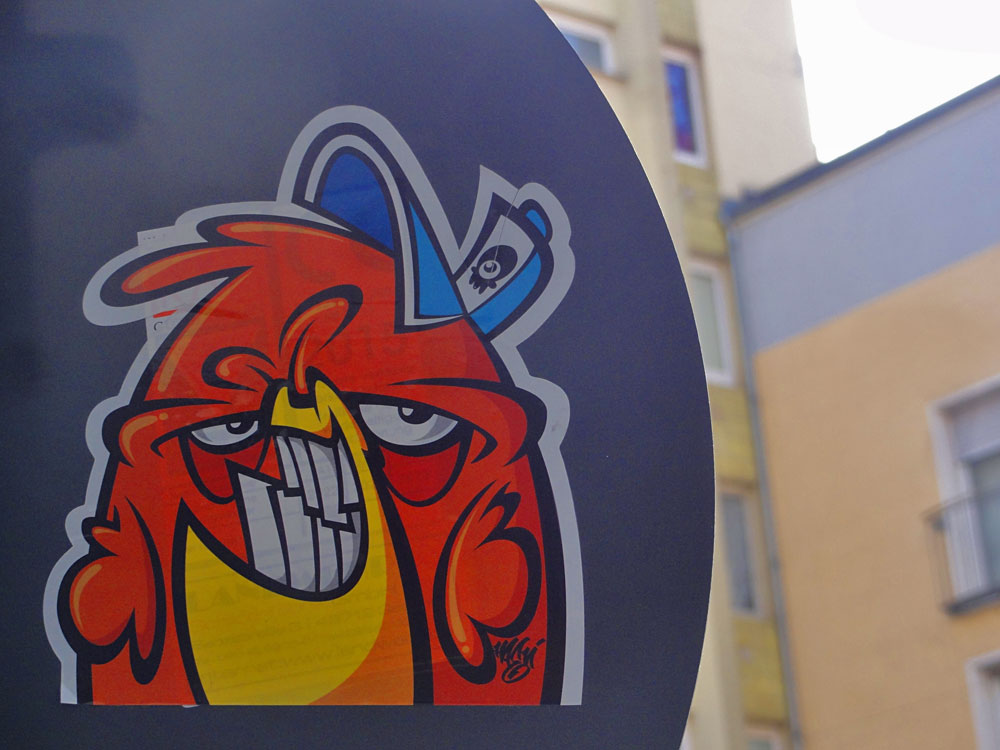 Streetart in Frankfurt von Haevi